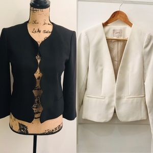 2 for 1: Ann Taylor Classics Black & White Jackets